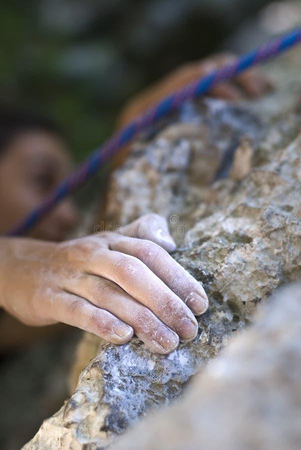 рука альпиниста стоковая фотография rf