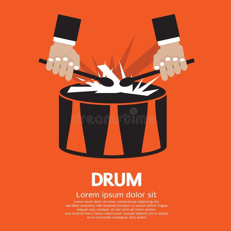 Рука барабанчика и барабанщика. иллюстрация вектора