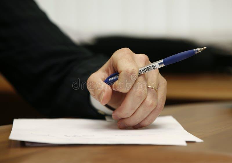 Рука бизнесмена стоковое фото