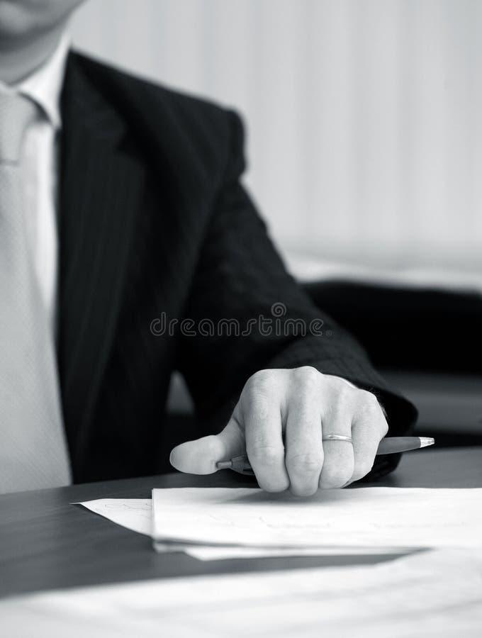 рука бизнесмена стоковая фотография