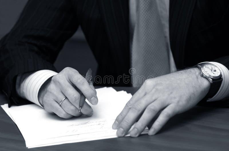 рука бизнесмена стоковые фотографии rf