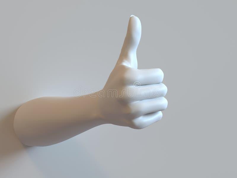 Рука больших пальцев руки-вверх стоковые изображения rf