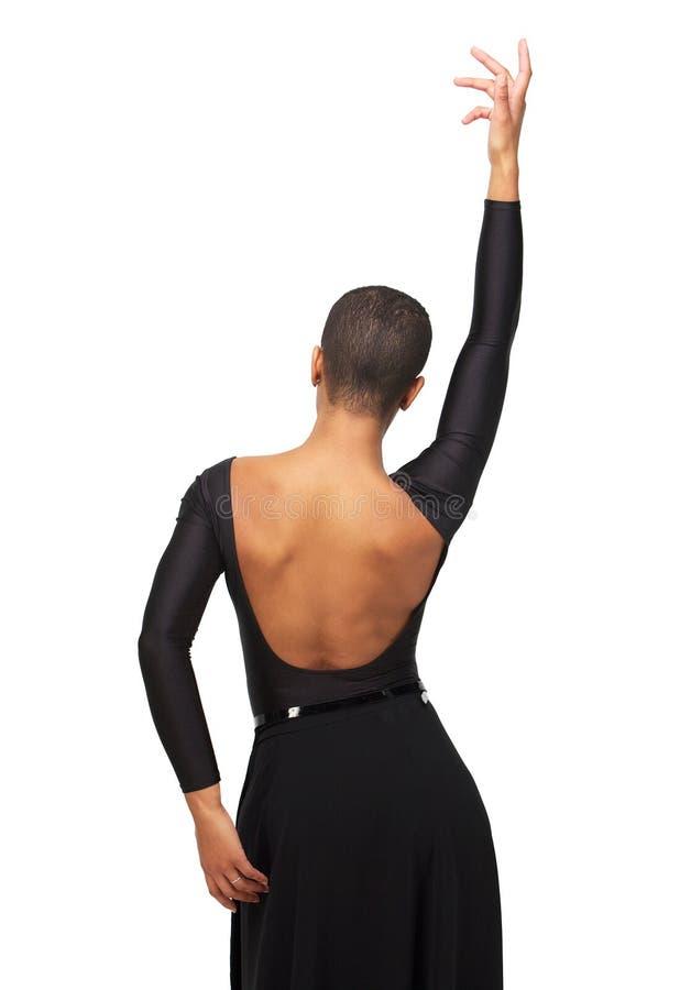Рука вверх по женщине афроамериканца стоковые фотографии rf