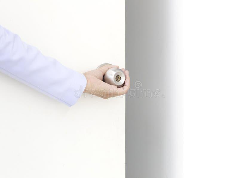 рука двери открытая стоковые изображения rf