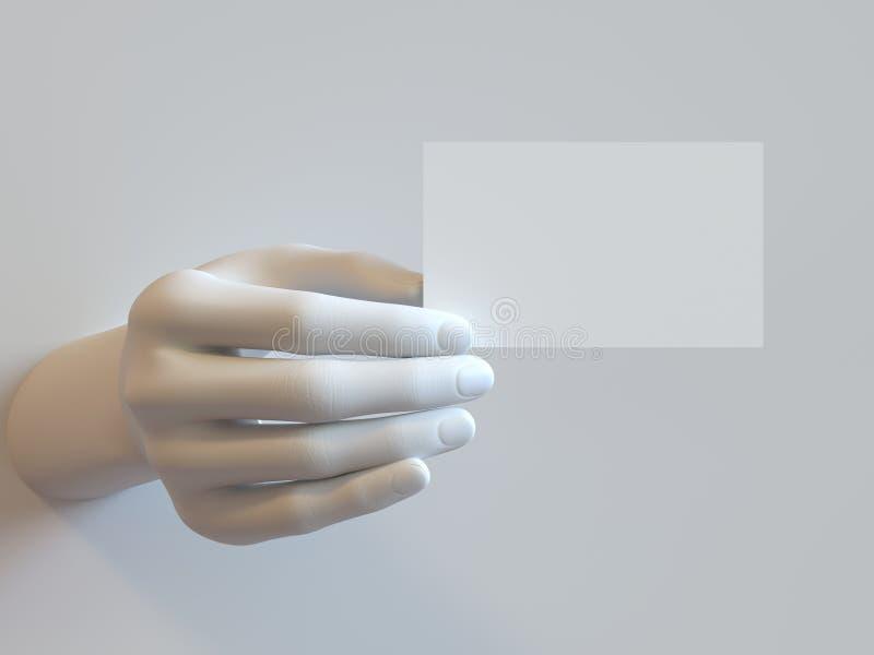 Рука визитной карточки стоковое фото rf