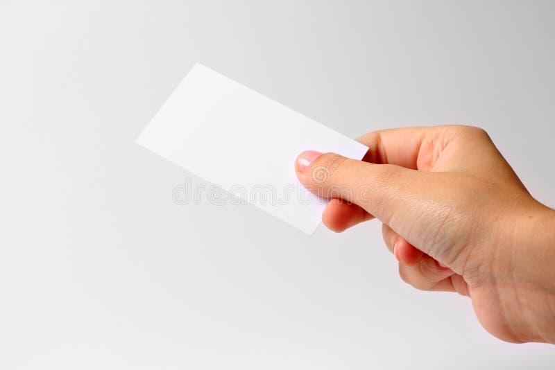 Download рука визитной карточки стоковое фото. изображение насчитывающей удерживание - 6861468