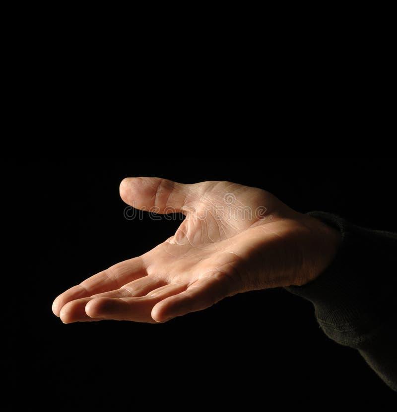 рука вне стоковая фотография