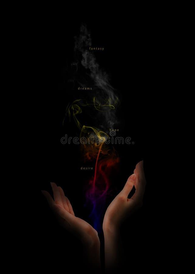 рука волшебная иллюстрация штока