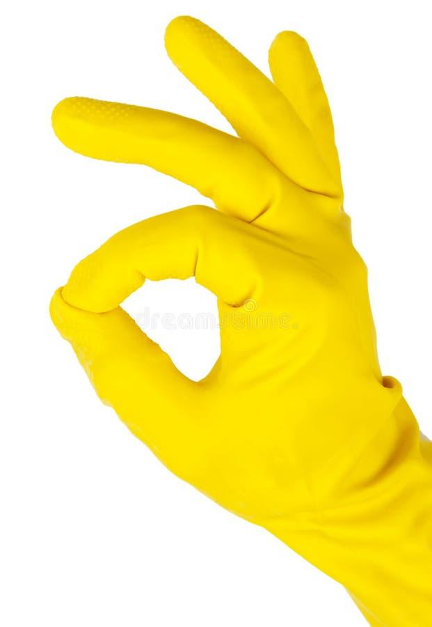 Рука в перчатке стоковое изображение