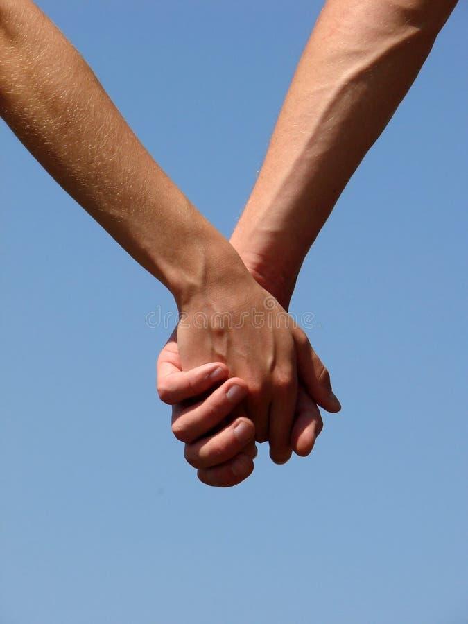 Рука в руке стоковое изображение rf