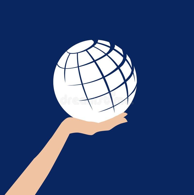 рука глобуса бесплатная иллюстрация