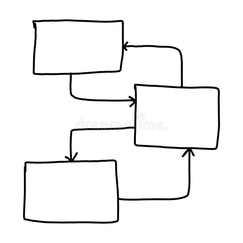 Рука графиков чертежа бизнесмена формы символов геометрические иллюстрация вектора