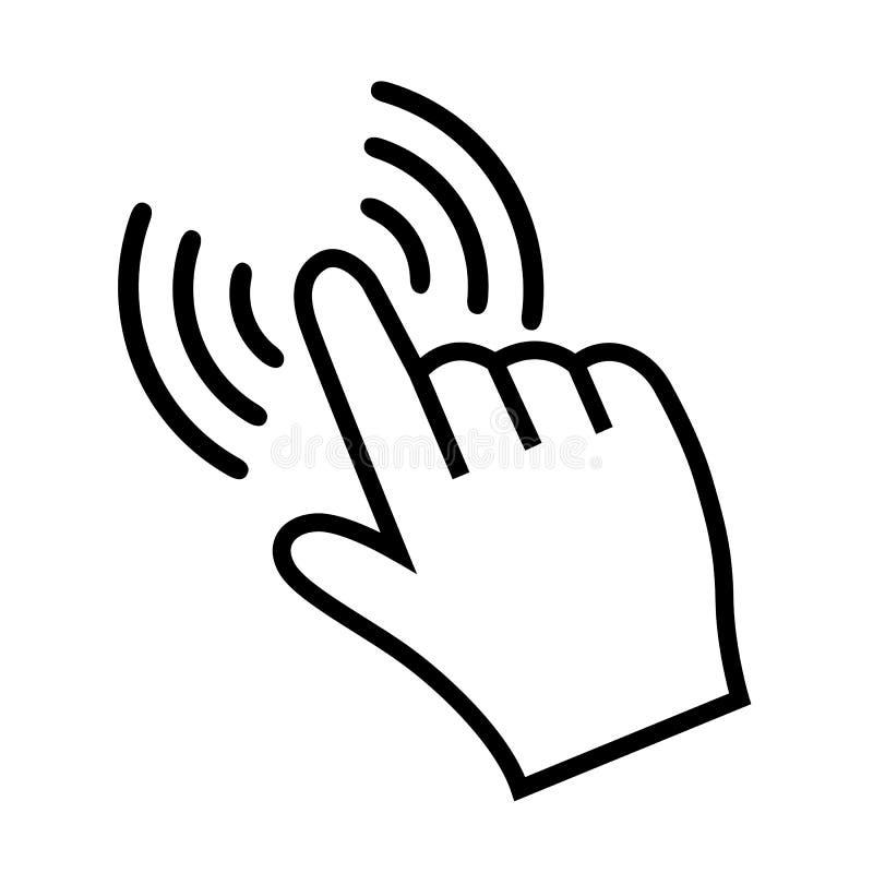 Рука делая †знака значка выбора «для запаса иллюстрация штока