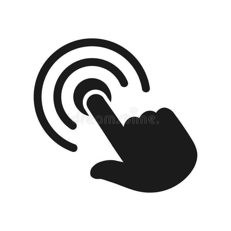 Рука делая значок выбора, вектор †знака нажмите здесь « иллюстрация штока