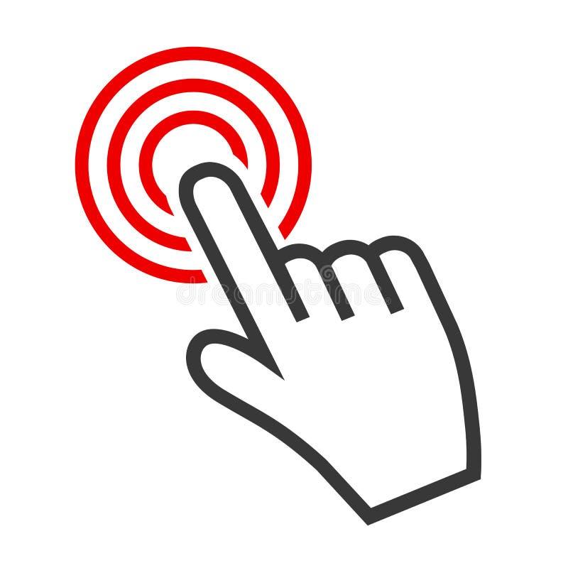 Рука делая значок выбора - вектор запаса иллюстрация вектора