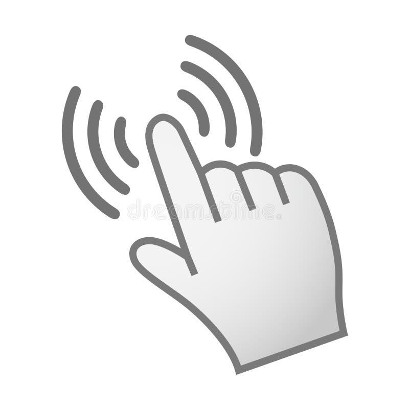 Рука делая значок выбора - вектор иллюстрация штока