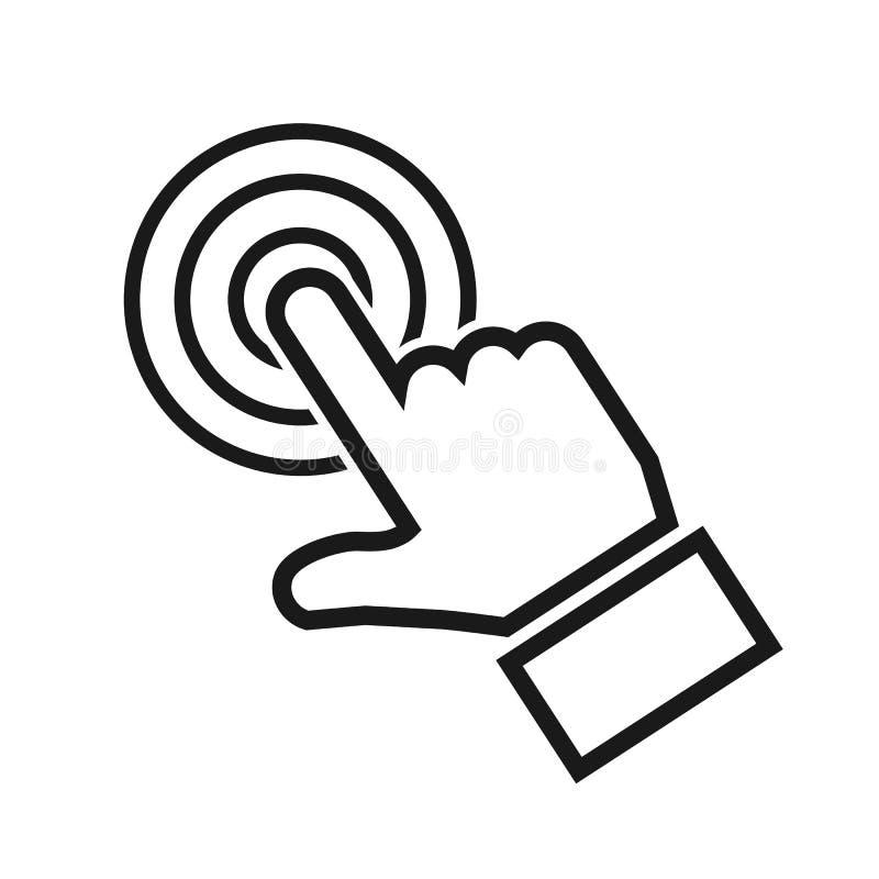 Рука делая значок выбора - вектор иллюстрация вектора