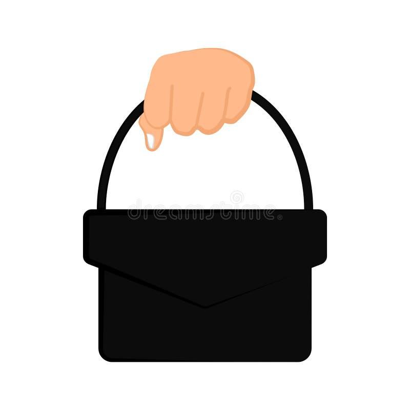 Рука держа ведро бесплатная иллюстрация