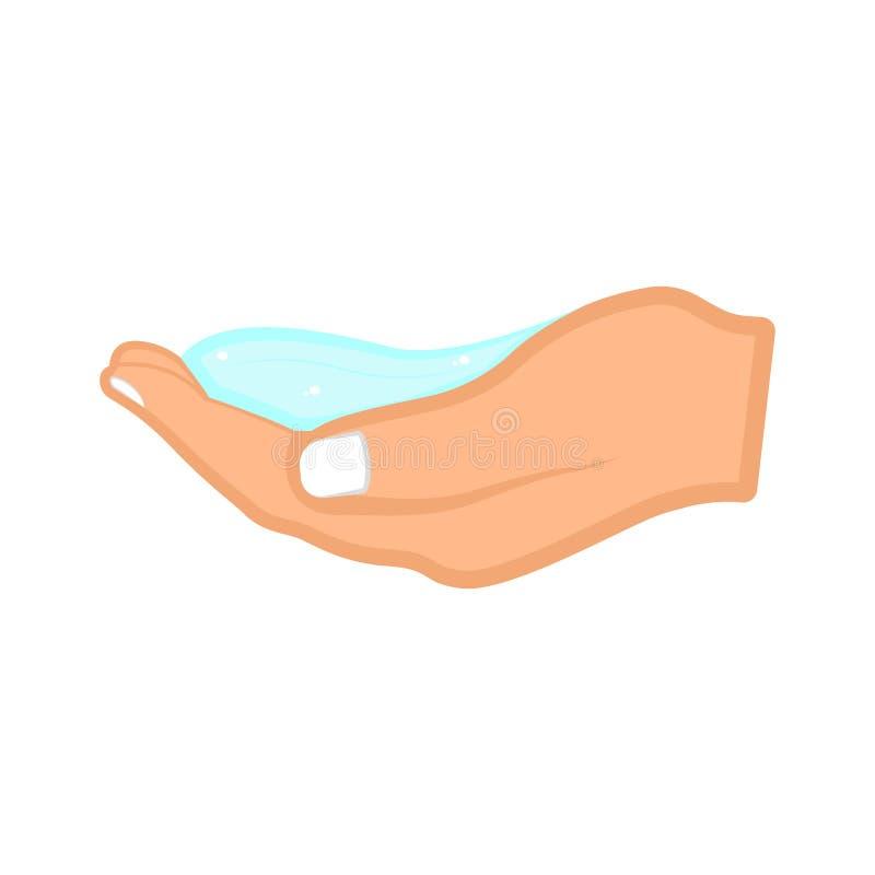 Рука держа воду иллюстрация вектора