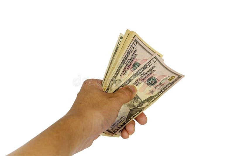 Рука держит доллар США стоковая фотография