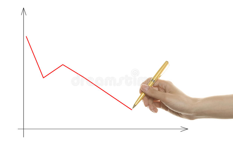 рука диаграммы чертежа стоковое фото rf