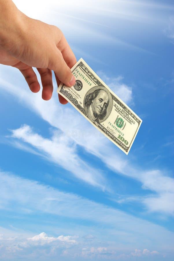рука доллара стоковые фото