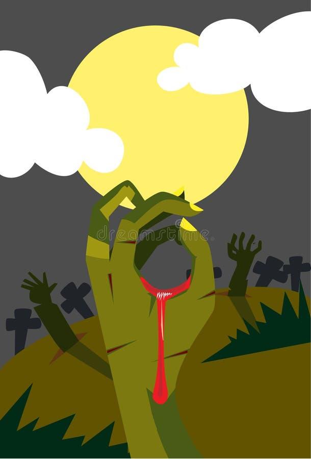 рука дьявола иллюстрация вектора