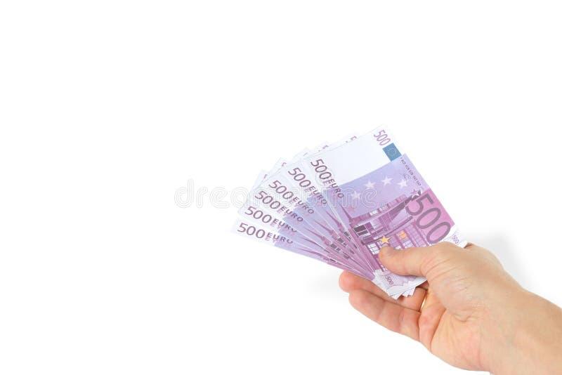 рука евро стоковая фотография