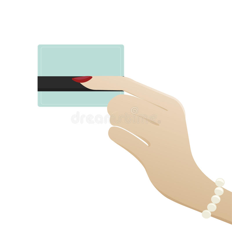 Рука женщины держа кредитную карточку стоковое фото