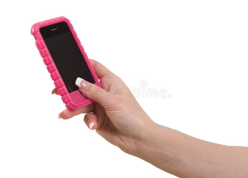 рука женщины мобильного телефона стоковые фотографии rf