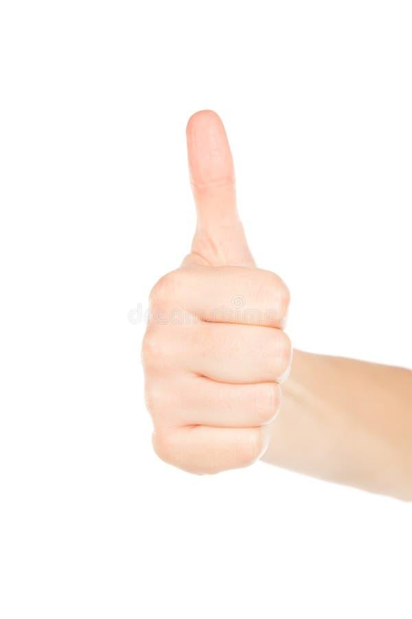 Рука женщины на белой предпосылке стоковые фотографии rf