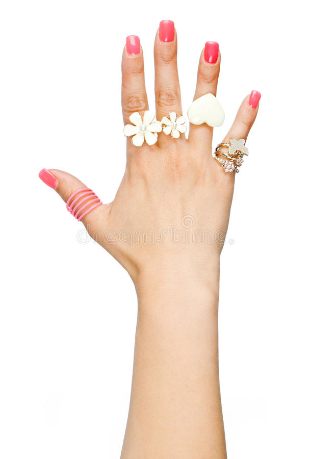 рука звенит женщина стоковые изображения