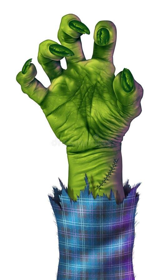 Рука зомби иллюстрация вектора