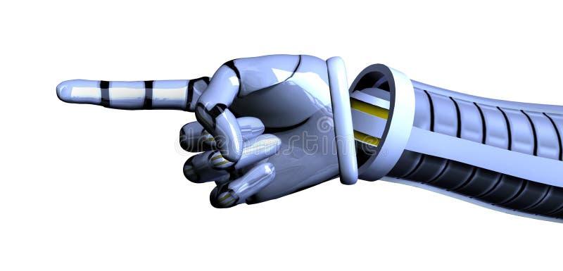 рука клиппирования включает путь указывая робот бесплатная иллюстрация