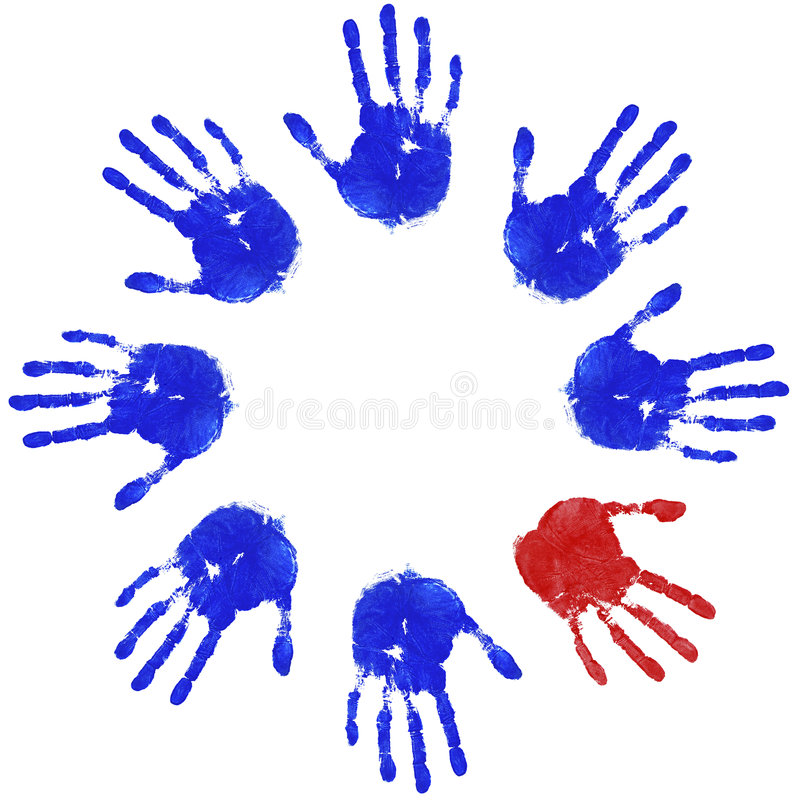 рука круга нечетная иллюстрация штока