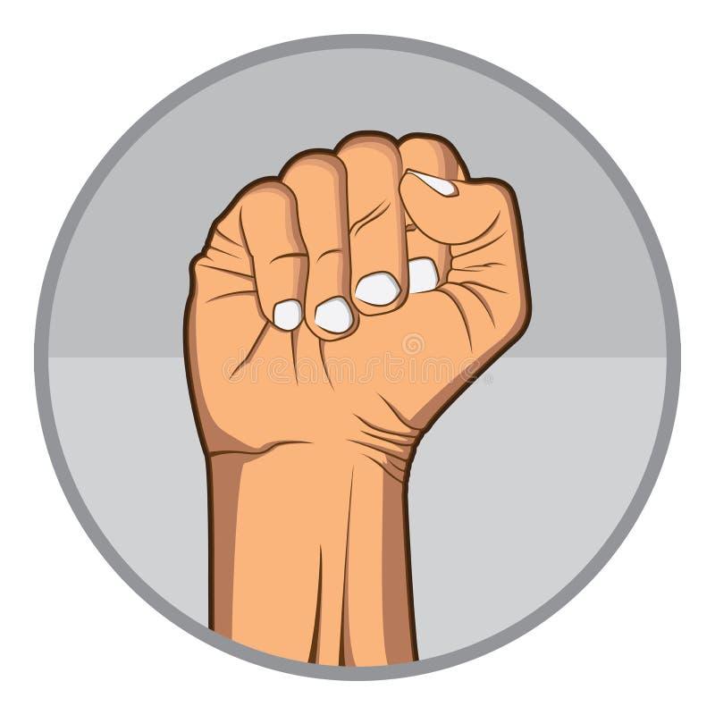 Рука кулака стоковое изображение