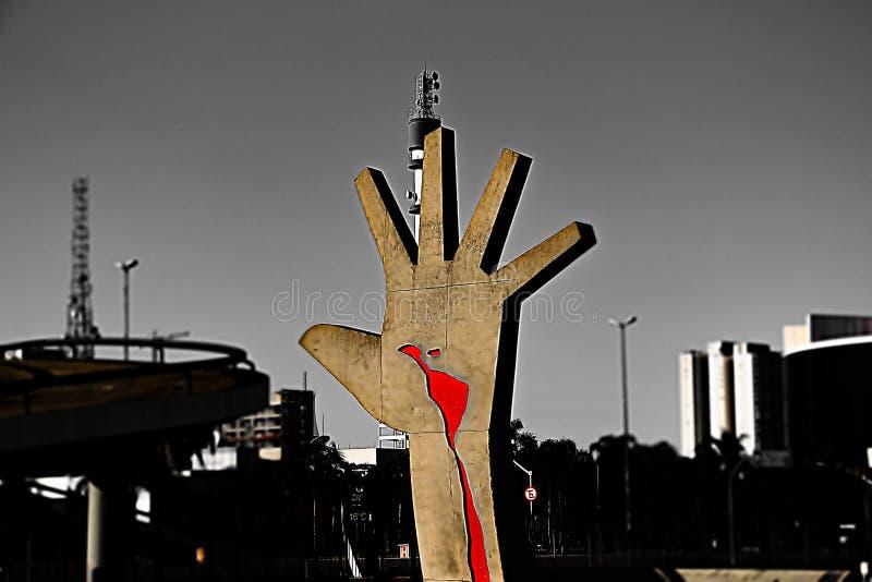 Рука латино-американского мемориала стоковое изображение