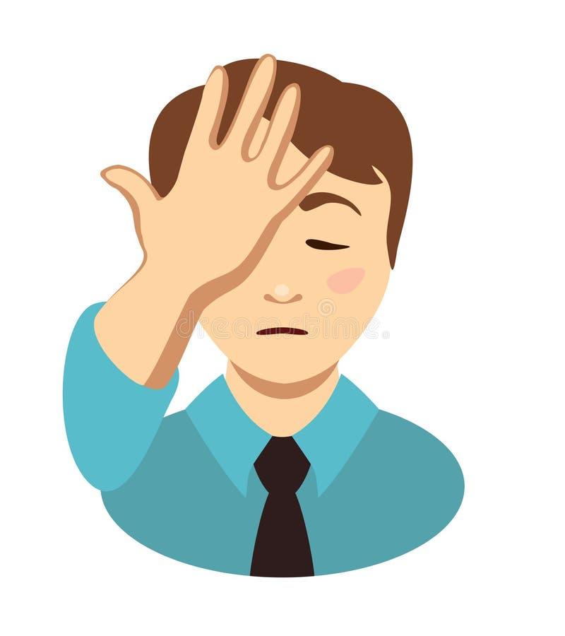 Рука места человека на голове Жест ладони стороны бесплатная иллюстрация
