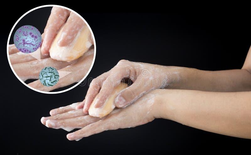 Рука мытья стоковое изображение