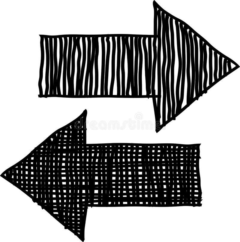 рука нарисованная стрелками бесплатная иллюстрация