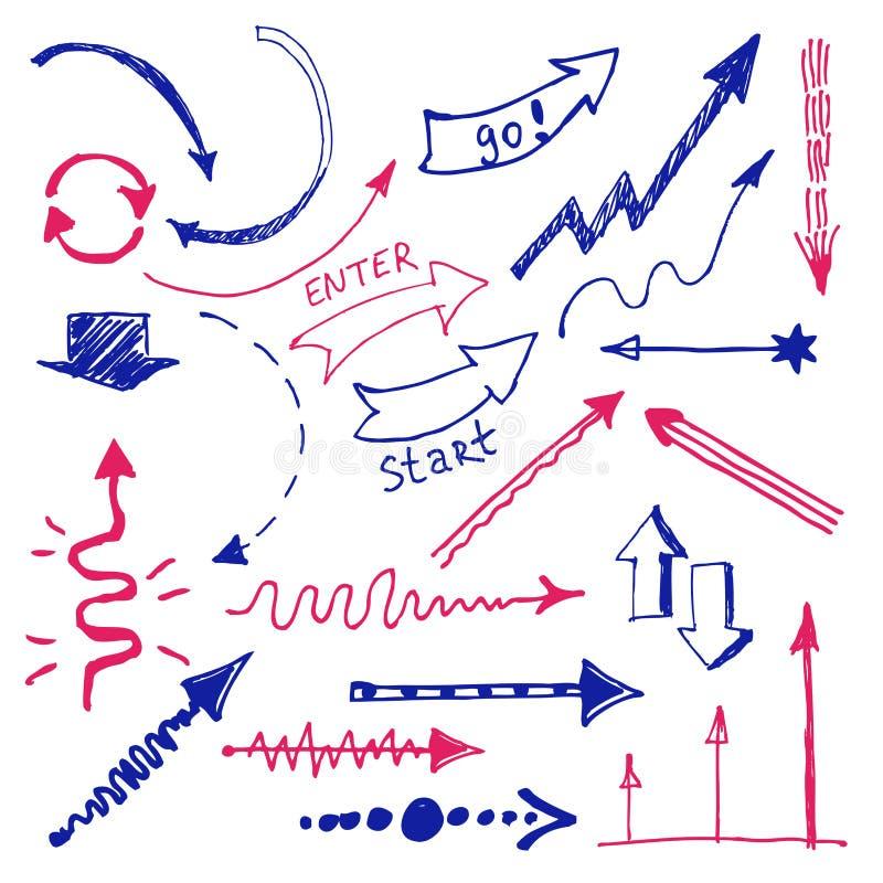рука нарисованная стрелками конструкция легкая редактирует элементы для того чтобы vector Infographic иллюстрация вектора