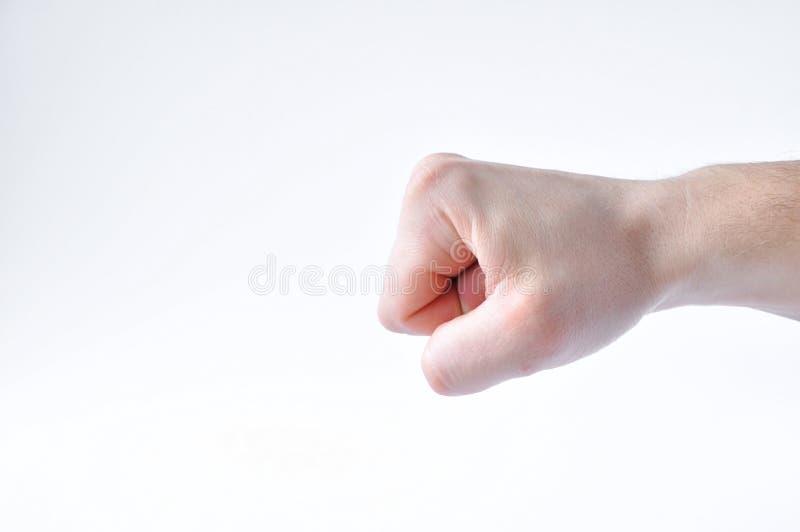 Рука обхватила в кулак стоковое фото rf