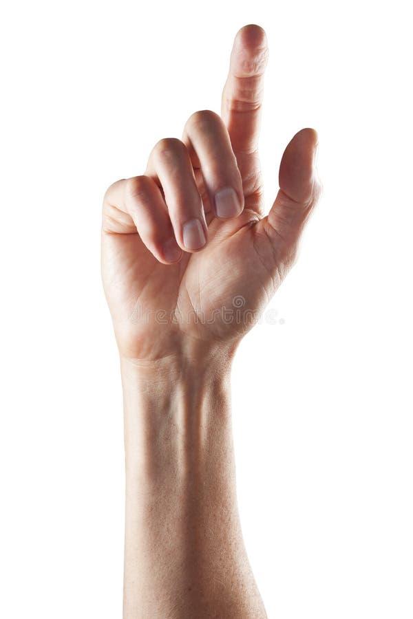 рука одно перста стоковая фотография