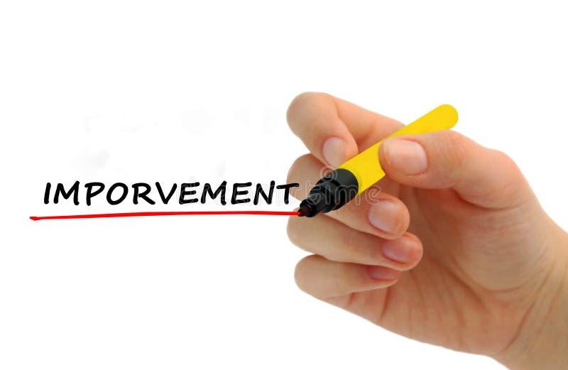 Рука писать сообщение Imporvement стоковые фотографии rf