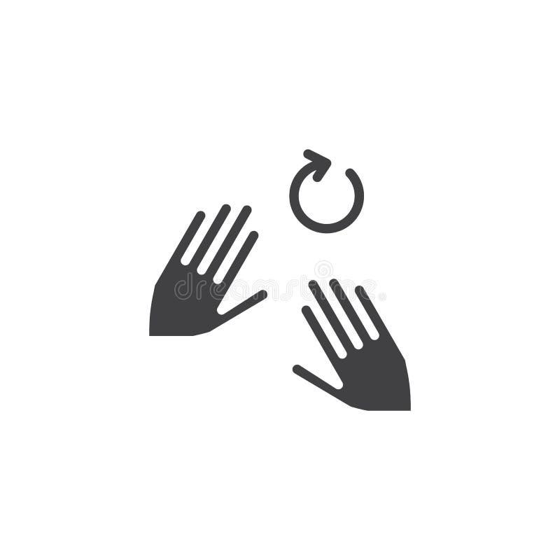 рука 2 поворачивает значок вектора alt иллюстрация вектора