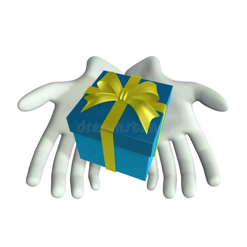 рука подарка иллюстрация вектора