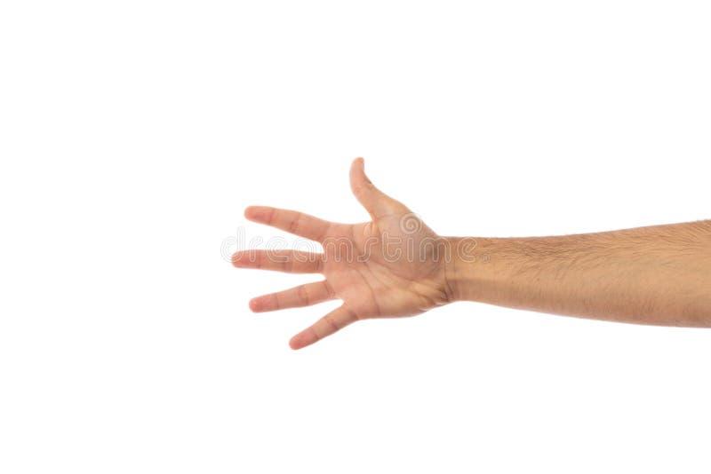 Рука подсчитывая 5 изолированное на белой предпосылке стоковая фотография rf