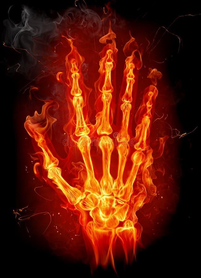 рука пожара иллюстрация вектора