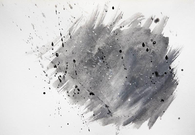 Рука покрасила предпосылки с отказами желтый цвет акварели стародедовской предпосылки темный бумажный Предпосылка акварели - пятн стоковые изображения rf
