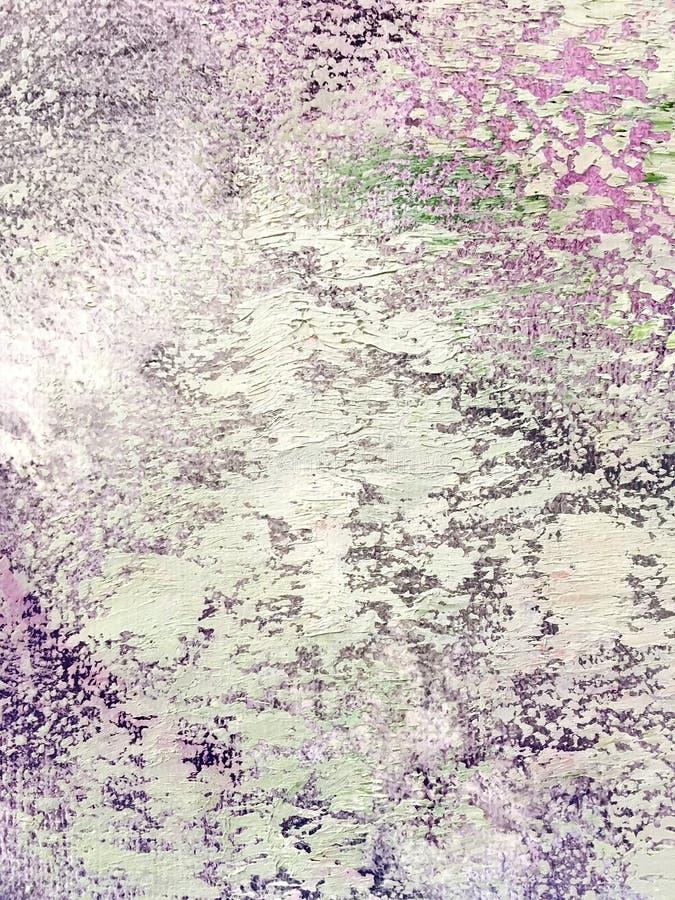 Рука покрасила фиолетовую и белую поверхность холста как предпосылка стоковое изображение
